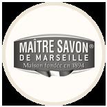 Badge de la gamme de savons de Marseille Maître-savon
