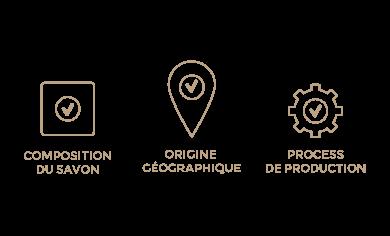 Les 3 critères du véritable savon de Marseille selon l'Union des Professionnels du Savon de Marseille